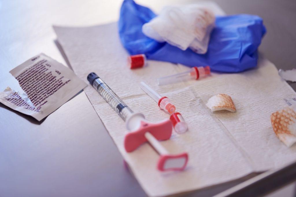 Syringe used for botox treatment