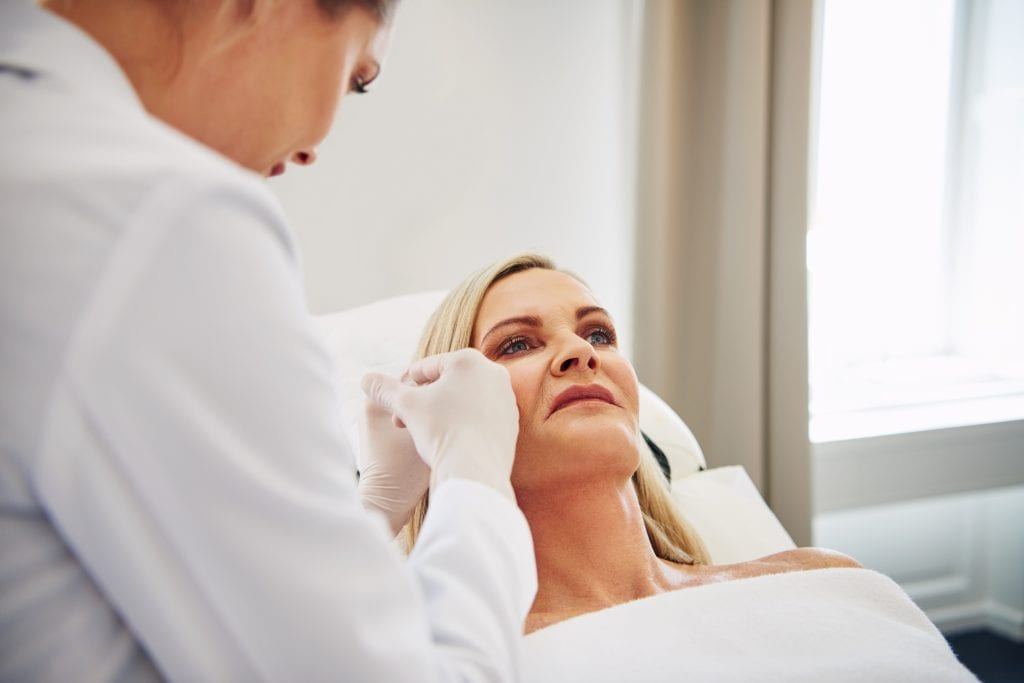 Botox treatment helps maintain a younger-looking appearance