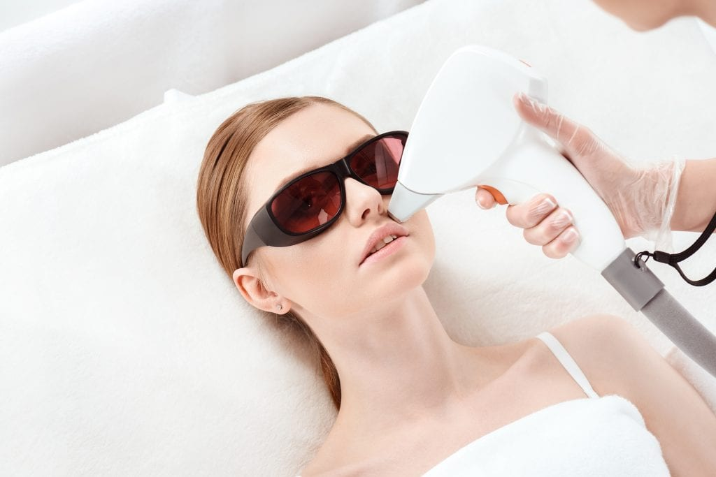 Laser hair removal on mustache