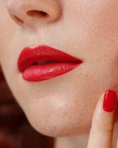 Women Flaunting her beautiful lips